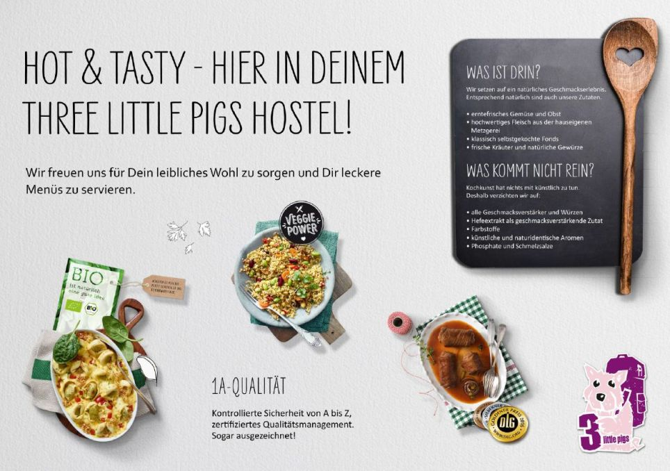 Hot + Tasty im Three Little Pigs Hostel - unser Abendessen für Gruppen